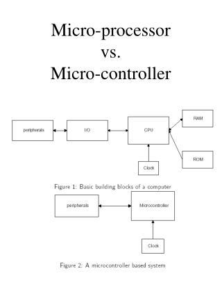 Micro-processor vs. Micro-controller