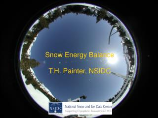 Snow Energy Balance T.H. Painter, NSIDC
