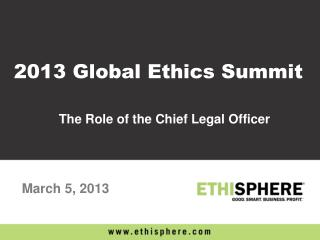 The Role of the Chief Legal Officer
