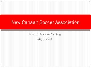 New Canaan Soccer Association