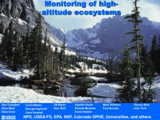 Monitoring of high-altitude ecosystems