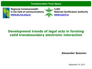 Transboundary Trust Space