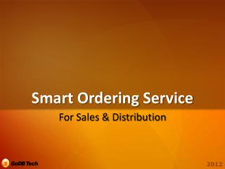 Smart Ordering Service