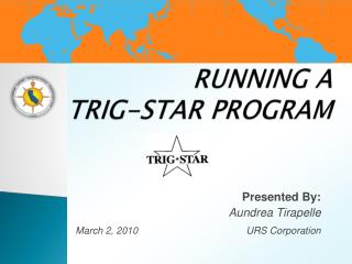 RUNNING A  TRIG-STAR PROGRAM