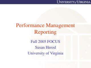 Performance Management Reporting