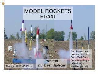 MODEL ROCKETS M140.01