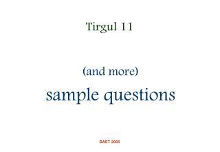 Tirgul 11
