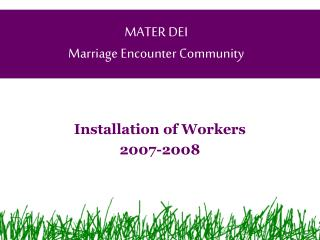 MATER DEI Marriage Encounter Community