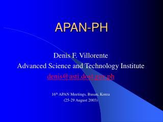 APAN-PH