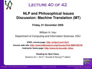 Lecture 40 of 42