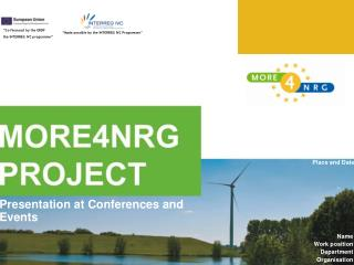 �Made possible by the INTERREG IVC Programme�