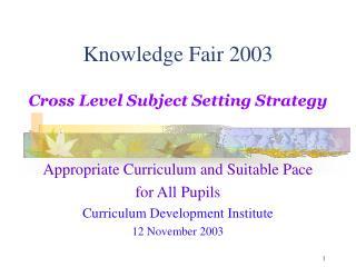 Knowledge Fair 2003