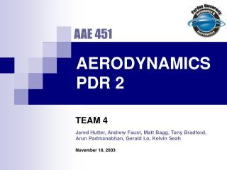 AERODYNAMICS PDR 2