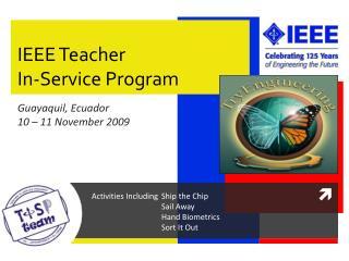 IEEE Teacher In-Service Program