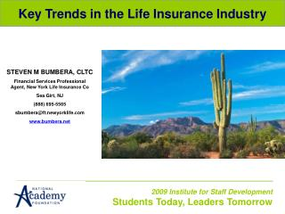 Key Trends in the Life Insurance Industry