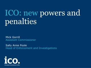 ICO: new  powers and penalties