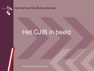 Het CJIB in beeld