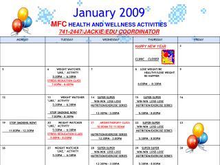 January 2009 30 29 SUPER-SUPER