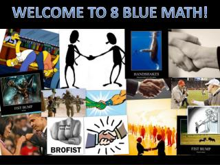 WELCOME TO 8 BLUE MATH!