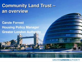 Community Land Trust –  an overview