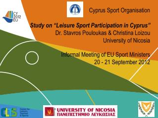 "Cyprus Sport Organisation Study on  ""Leisure Sport Participation in Cyprus"""