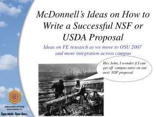 McDonnell's Ideas on How to Write a Successful NSF or USDA Proposal