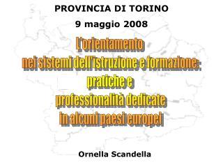 L'orientamento  nei sistemi dell'istruzione e formazione: pratiche e  professionalità dedicate