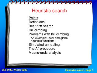 Heuristic search