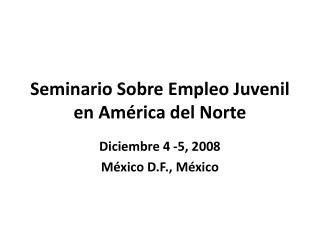 Seminario Sobre Empleo Juvenil en América del Norte
