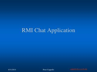 RMI Chat Application