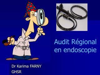 Audit Régional  en endoscopie