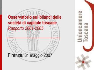 Firenze,  31 maggio 2007
