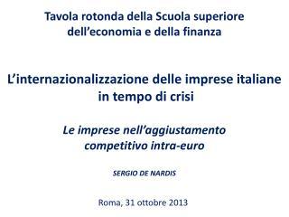 Roma, 31 ottobre 2013