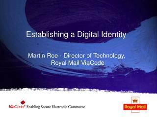 Establishing a Digital Identity