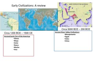 Early Civilizations: A review