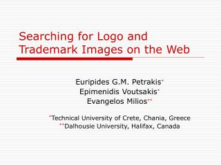 Searching for Logo and Trademark Images on the Web