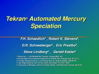 Tekran  Automated Mercury Speciation