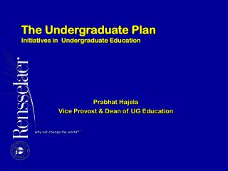 The Undergraduate Plan Initiatives in  Undergraduate Education