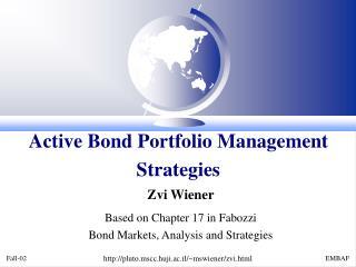 Active Bond Portfolio Management Strategies