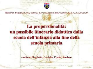 Master in  Didattica delle scienze per insegnanti delle scuole medie ed elementari