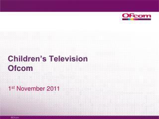 Children's Television Ofcom