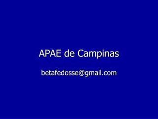 APAE de Campinas