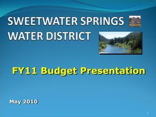 FY11 Budget Presentation