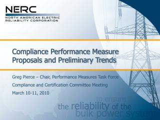Compliance Performance Measure Proposals and Preliminary Trends