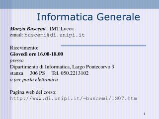 Informatica Generale