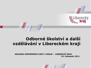 Odborné školství a další vzdělávání v Libereckém kraji
