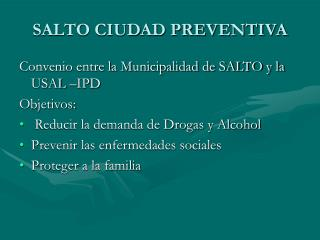 SALTO CIUDAD PREVENTIVA