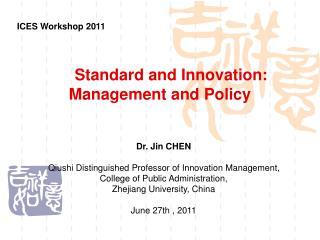 Standard and Innovation: Management and Policy