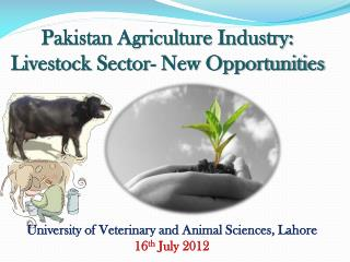 Pakistan Agriculture Industry: Livestock Sector- New Opportunities
