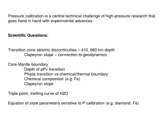Pressure calibration is a central technical challenge of high-pressure research that